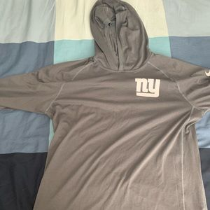 Nike Dri fit hooded long sleeve shirt NY Giants